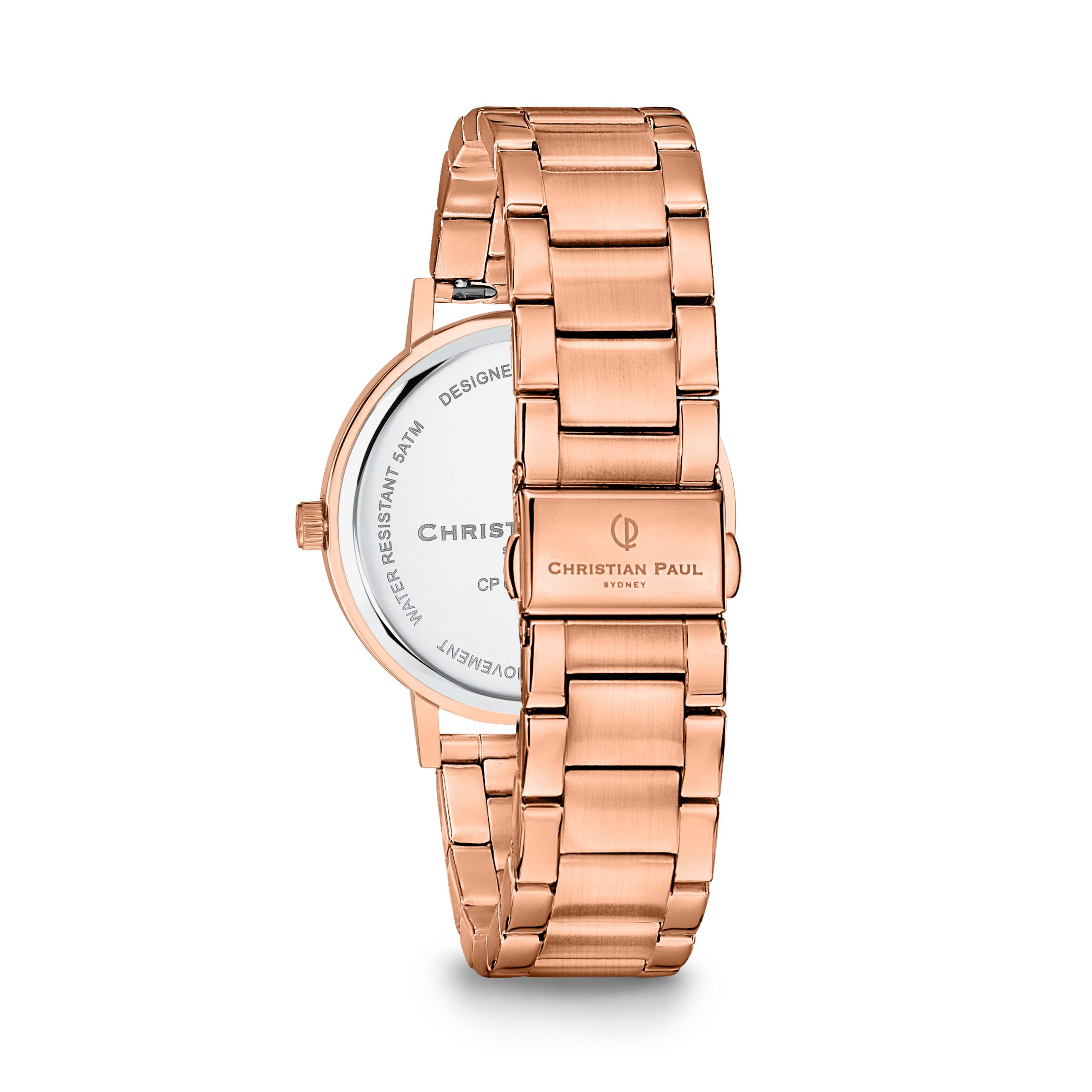 Luxury all rose gold link watch