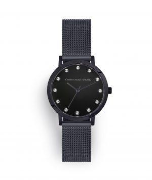 luxury black mesh watch