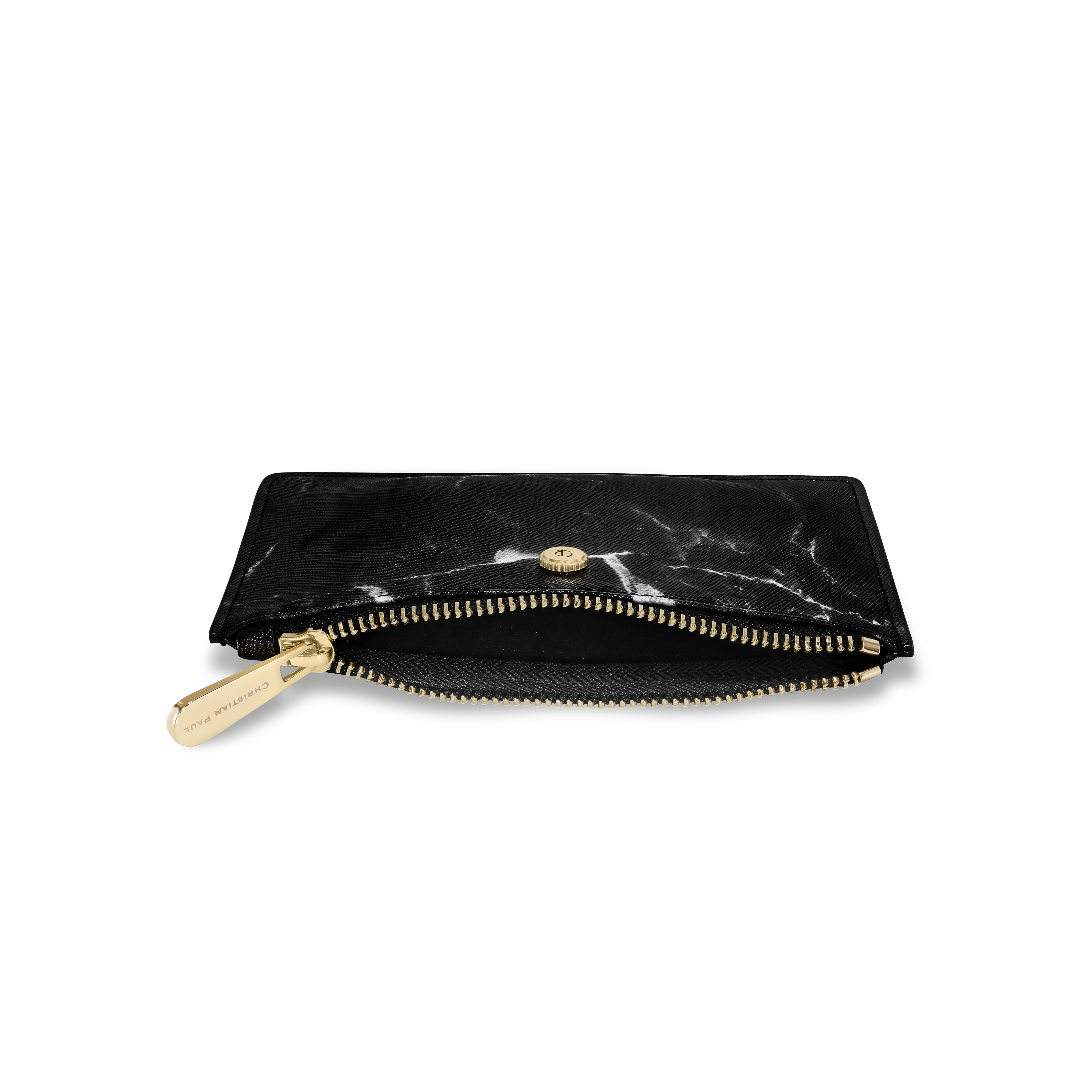 luxury black marble and gold coin purse